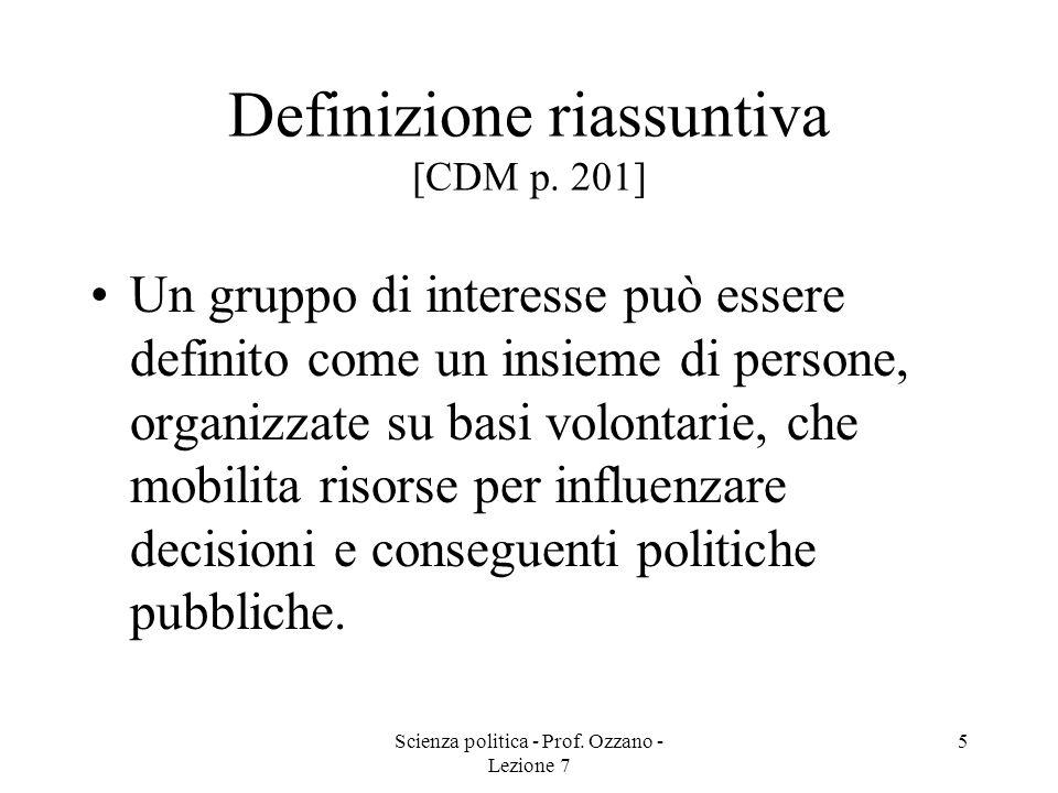 Definizione riassuntiva [CDM p. 201]